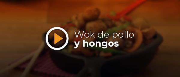 RECETA WOK DE POLLO Y HONGOS